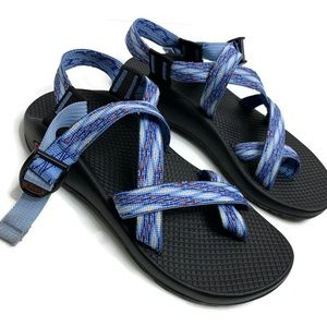 Women's Chaco Blue Strappy Outdoors Sandals Hiking